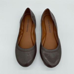 Lucky Brand Emmie Leather Flats Size 8